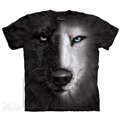 Black & White Wolf Face